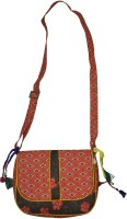Lal Haveli Beautiful Flower Design Printed Ethnic Sling Bag Multicolor