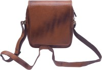 Grasshooper GH-LSVB Leather Side Vertical Sling Bag Brown