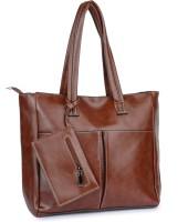 Buckleup Outpocket Desing Shoulder Bag Brown