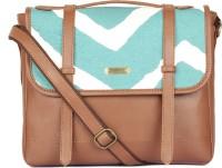 Paprika Arcene Messenger Bag Turquoise, White, Brown