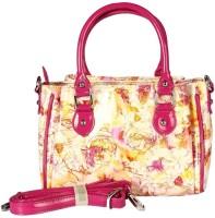 Bagmire Beautiful women Hand-held Bag Pink-Yellow