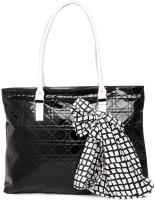 3 Mad Chicks Black Fabric Shoulder Bag Black-6