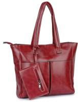 Buckleup Outpocket Desing Shoulder Bag Red