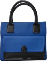 Toteteca Bag Works Square Pocketed Tote Hand Bag Denim Blue::Black