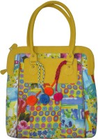 Lal Haveli Polka Dot Design Cotton Patchwork Rajasthani Hand-held Bag Multicolor
