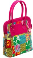 JaipurSe Patchwork Cotton with Tassels Hand-held Bag Multicolor