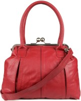 Goguava Leather Bag With Clasp Closure Hobo Red
