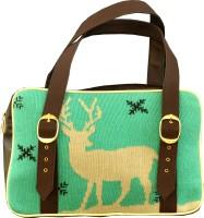 3 MAD CHICKS Jacquard Knitted Shoulder Bag