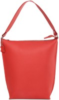 Fume Pure Leather Hand-held Bag Red