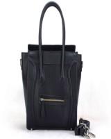 Elizabeth Tailleur Solid Hand-held Bag Black