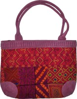 Lal Haveli Handmade Embroidered Satchel Pink