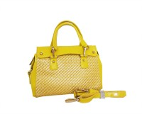 Carry On Bags Glossy patent mesh Hand-held Bag Yellow