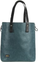 Goguava Corduroy Leather Bag With Contrast Handles Hand-held Bag Blue