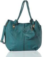 Aapno Rajasthan Braided Handle Faux Leather Shoulder Bag Teal Blue
