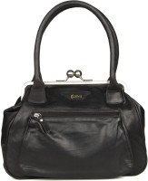 Goguava Leather Bag With Front Pocket Hobo Black