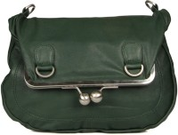 Goguava Leather Bag With Clasp Closure Sling Bag Green