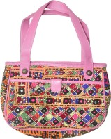 Lal Haveli Afghan Design Embroidery Satchel Pink