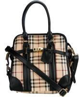 Glitters BB Check Design Stylish Hand-held Bag Black