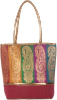 Jute Cottage Juco Banaras New Shoulder Bag Maroon