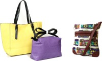 Carry On Bags Valentine Special Combo Hand-held Bag Yellow