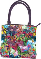The Elephant Company Handbag Leather Butterfly Collage Hand Bag Multi-color