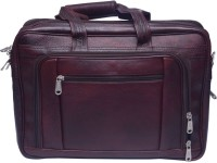 Grasshooper GH-LOPB Leather Office Professional Messenger Bag Brown