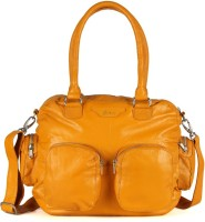 Goguava Leather Bag With Twin Pouch Pockets Hobo Yellow