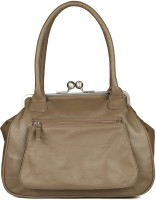 Goguava Leather Bag With Front Pocket Hobo Grey