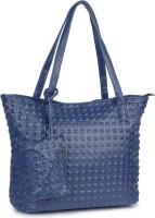 Buckleup Piramid Pattern Print Shoulder Bag Blue