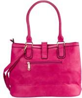 Glitters Mat Design Hand-held Bag Pink