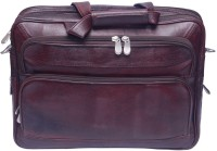 Grasshooper GH-LOEBTS Leather Office Expandable with Trolley Support Messenger Bag Brown
