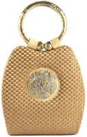 Saisha Modish Hand-held Bag Gold