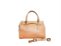 Carry On Bags Glossy patent mesh Hand-held Bag Peach