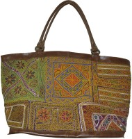 Lal Haveli Rural Handmade Embroidery Satchel Multicolor