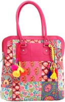 Jaipurse Printed Cotton Party with Tassels for Women and Girls Hand-held Bag Multicolor