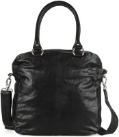Goguava Leather Bag With Single Shoulder Strap Hobo Black