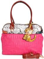Khoobsurati Vibrant Snake Salvage Hand Bag Pink