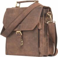 Leaderachi Edinberg Small Brief Case Bag Messenger Bag Brown