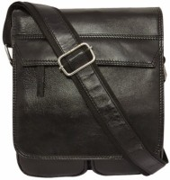 Chimera Leather 1605 Cross Body Bag Black