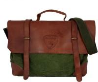 Honeybadger HBMBCFOGF0026 18 inch Laptop Bag Green-01