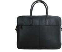 Elan Leather Business 17 inch Laptop Messenger Bag Black