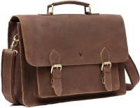 WildHorn Genuine Hunter Leather 59 15 inch Laptop Messenger Bag Brown