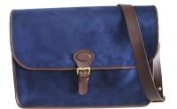 Princesse K Suede 15 inch Laptop Messenger Bag Blue
