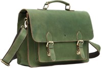 WildHorn Genuine Hunter Leather 60 15 inch Laptop Messenger Bag Green