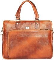 Chanter Genuine Leather-RA957 15 inch Expandable Laptop Bag Camel