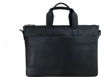 Elan Leather 17 inch Laptop Messenger Bag Black