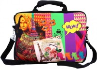 Shor Sharaba The Indian Mona Lisa 13 inch Expandable Sling Bag Multi-color