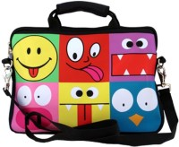 Shor Sharaba Funny Faces 13 inch Expandable Sling Bag Multi-color