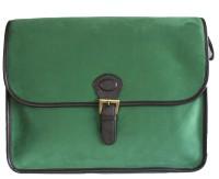 Princesse K Suede 15 inch Laptop Messenger Bag Green