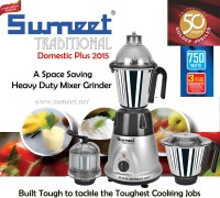 Sumeet Domestic Plus 2015 750 W Mixer Grinder